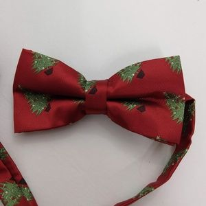 Christmas Tree Men's Bow Tie Red Green